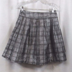 Forever Love 21 Silver Window Pane Pleated Skirt S